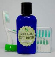 Neem Bark Tooth Powder Gum Pics and Tooth Brush Travel Set