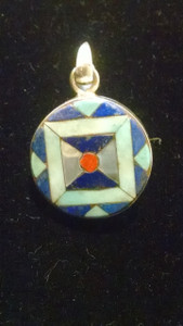 jeweled inlay pendant