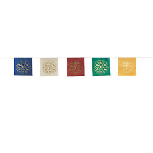 OM LOTUS FLOWER paper prayer flag