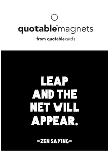Leap and the net will appear --magnet