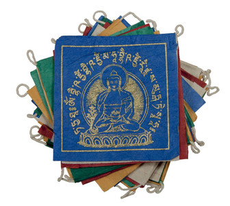 medicine buddha paper prayer flag
