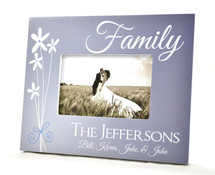 Family Personalized Picture Frame For A 4x6 Photo