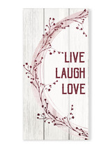 Live Laugh Love Rustic Wood Wall Sign 9x18