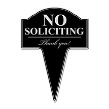 No Soliciting Aluminum Yard Sign 10x14