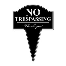 No Trespassing Aluminum Yard Sign 10x14