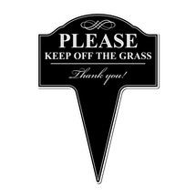 Please Keep Off The Grass Aluminum Yard Sign 10x14