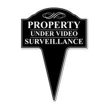 Property Under Video Surveillance Aluminum Yard Sign 10x14