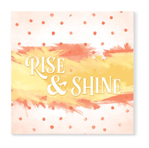 Rise And Shine Wood Wall Sign 16x16