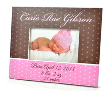Personalized Baby Picture Frame 4x6 (Boy or Girl)