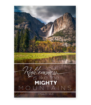 Your Righteousness Is Like The Mighty Mountains TimberArt Wood Photo Print 12x18