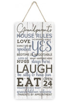 Grandparents House Rules Wooden Plank Sign 5x10