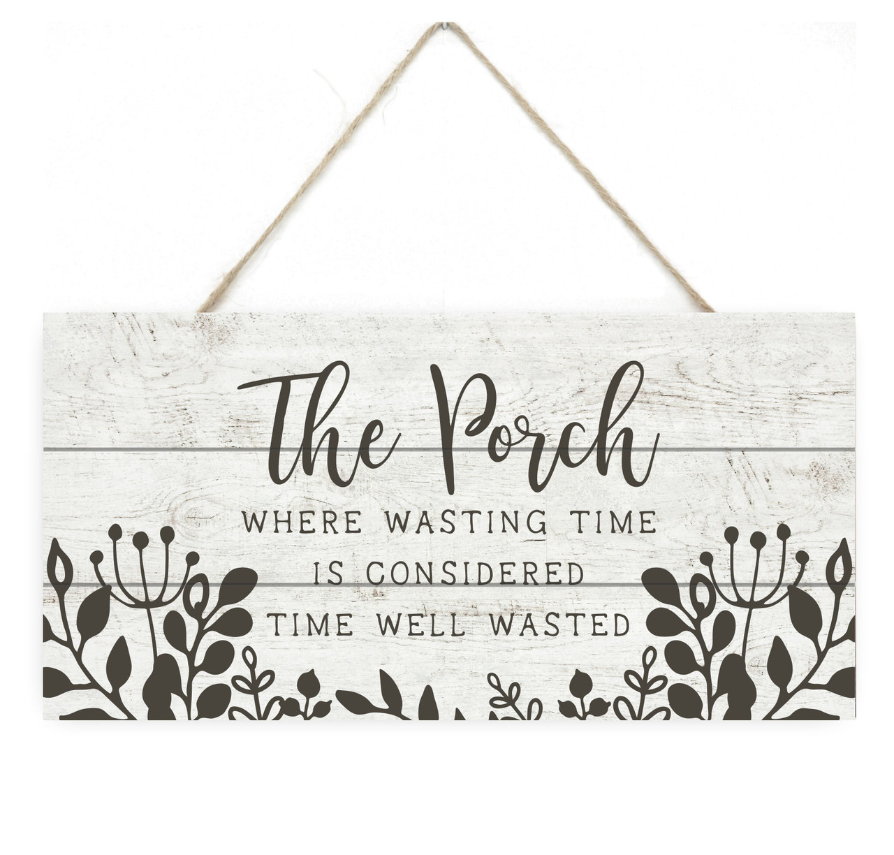 large welcome to the porch where wasting time is time well wasted rustic sign porch sign outdoor porch decor backyard decor outdoor decor