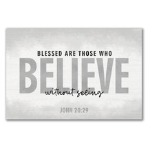 Blessed Are Those Who Believe Wood Wall Sign 12x18