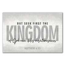 But Seek First The Kingdom Wood Sign 12x18