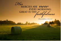 His Mercies Are New Every Morning TimberArt Wood Photo Print 12x18