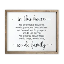 In This House We Do Second Chances Framed Rustic Wood Farmhouse Wall Sign