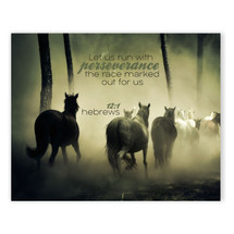 Let Us Run With Perseverance TimberArt Wood Photo Print 12x15