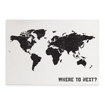 Where To Next Printed Wood Sign 12x18