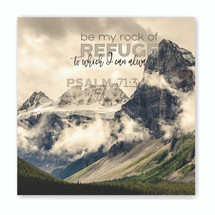 Be My Rock Of Refuge TimberArt Wood Photo Print 16x16