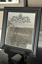 Personalized Framed Mirror 10x10