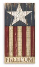 Freedom American Flag Rustic Wood Farmhouse Wall Sign 9x18