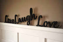 Live, Laugh, Love Word Art