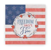 Freedom Isn't Free Rustic Wood Farmhouse Wall Sign 12x12