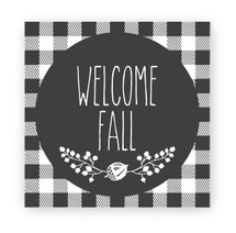 Welcome Fall Rustic Wood Farmhouse Wall Sign 12x12