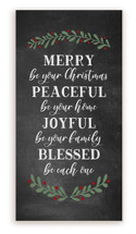 Merry Be Your Christmas Peaceful Be Your Home Rustic Wood Farmhouse Wall Sign 9x18