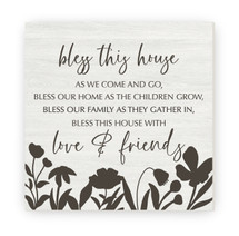 Bless This House As We Come And Go Rustic Wood Farmhouse Wall Sign 12x12