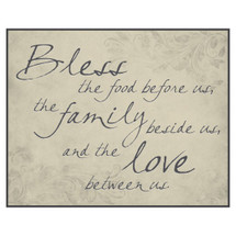 Bless The Food Before Us Printed Wall Sign 12x15