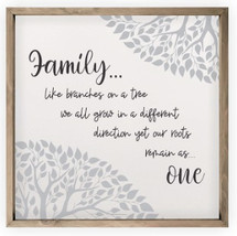 Family Like Branches On A Tree Framed Rustic Wood Farmhouse Sign 16x16