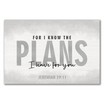 For I Know The Plans I Have For You Rustic Wall Sign 12x18