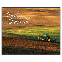 God Bless The Farmer Printed Wall Sign 12x15