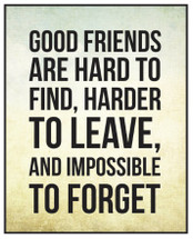 Good Friends Are Hard To Find Printed Wall Sign 12x15
