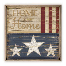 Home Sweet Home Rustic Wood Farmhouse Wall Sign 12x12