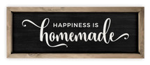 Happiness Is Homemade Framed Wood Farmhouse Wall Sign