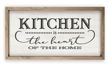 Kitchen Is The Heart Of The Home Framed Rustic Wood Farmhouse Wall Sign