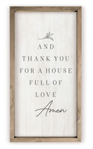 And Thank You For A House Full Of Love Framed Rustic Wood Farmhouse Wall Sign