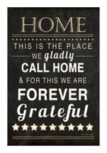 This Is The Place We Gladly Call Home Rustic Wood Wall Sign 12x18