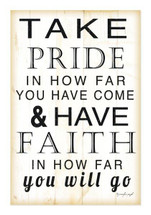 Take Pride In How Far You Have Come Rustic Wood Wall Sign 12x18