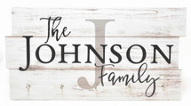 Personalized Printed Wood Family Name Key Holder 8x16