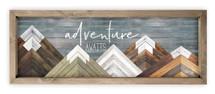 Adventure Awaits Wood Farmhouse Wall Sign