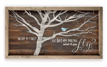 What If I Fall Oh But My Darling What If You Fly Wood Farmhouse Wall Sign