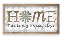 Home This Is Our Happy Place Wood Farmhouse Wall Sign