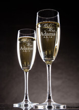 Personalized Champagne Toasting Flutes (Set of Two)