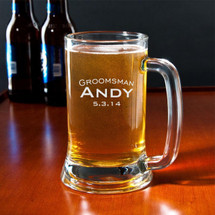 16 Ounce Personalized Engraved Beer Mug (Sold Individually)