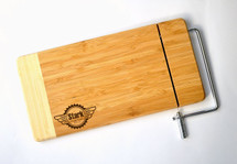 Personalized Cheese Cutting Board Laser Engraved Two Tone Bamboo 6x12