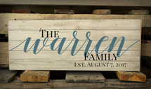 Personalized Family Name Pallet Box Sign 7.5 x 20