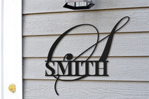 Personalized Large Initial Monogram Metal Sign
